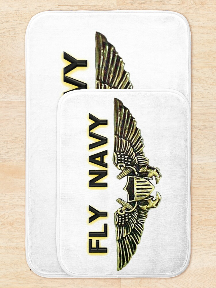 Alternate view of Naval Flight Officer Wings Bath Mat