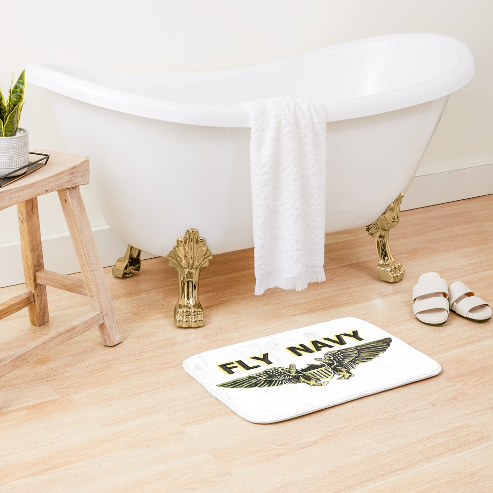 Naval Flight Officer Wings Bath Mat