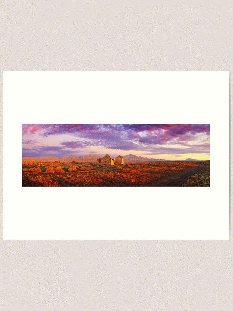 Alternate view of Settler's Ruin, Flinders Ranges, South Australia Art Print