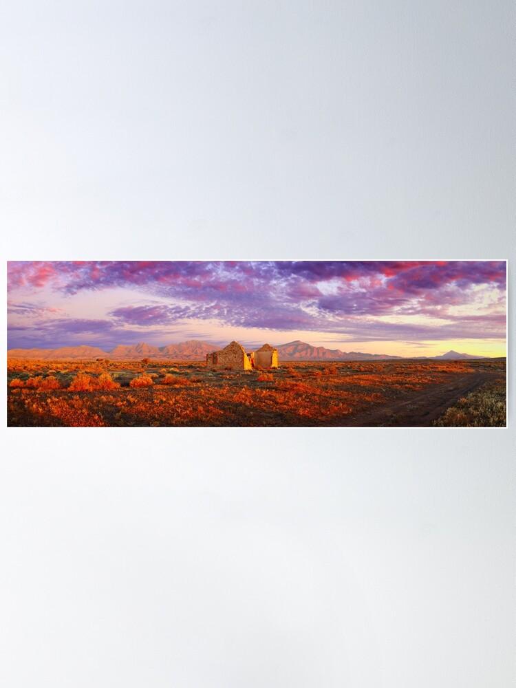 Alternate view of Settler's Ruin, Flinders Ranges, South Australia Poster