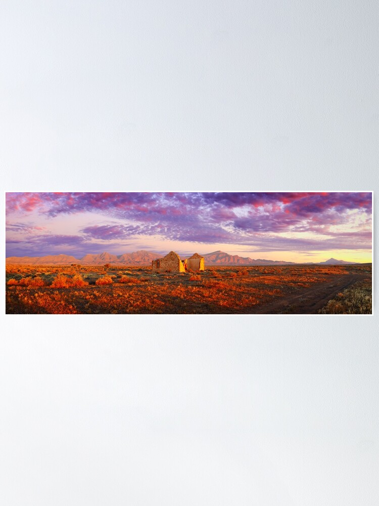 Alternate view of Settler's Ruin, Flinders Ranges, South Australia Poster