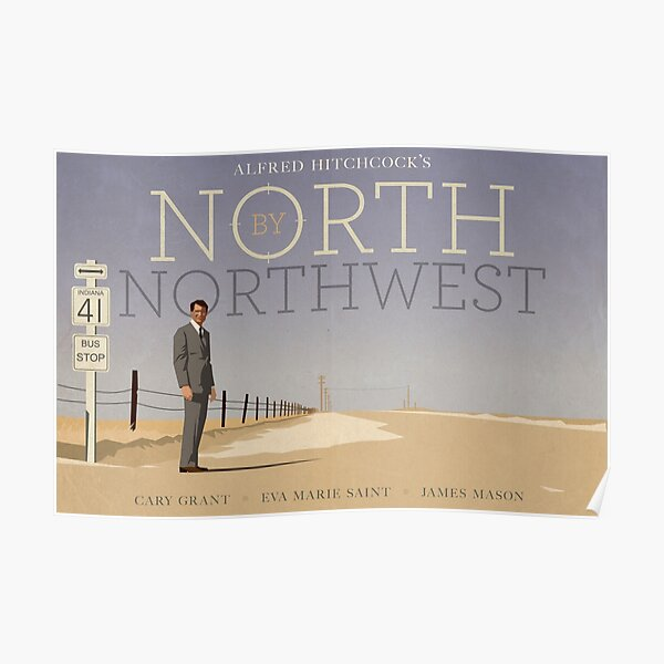 North by Northwest alternative movie poster Poster