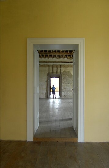 Boy in the Doorway, Kirby Hall by Veterisflamme