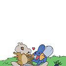 Cubone and Mudkip by GrangerDanger