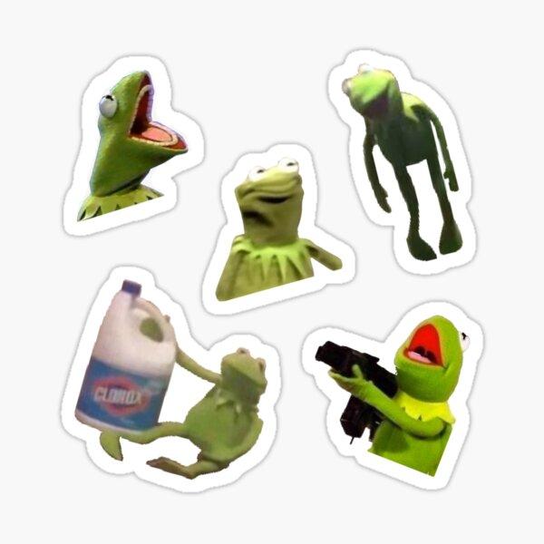 Wacky Kermit Meme sticker pack Sticker