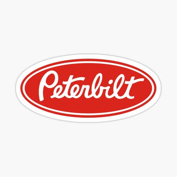 Peterbilt Truck Logo Rougeblanc Sticker