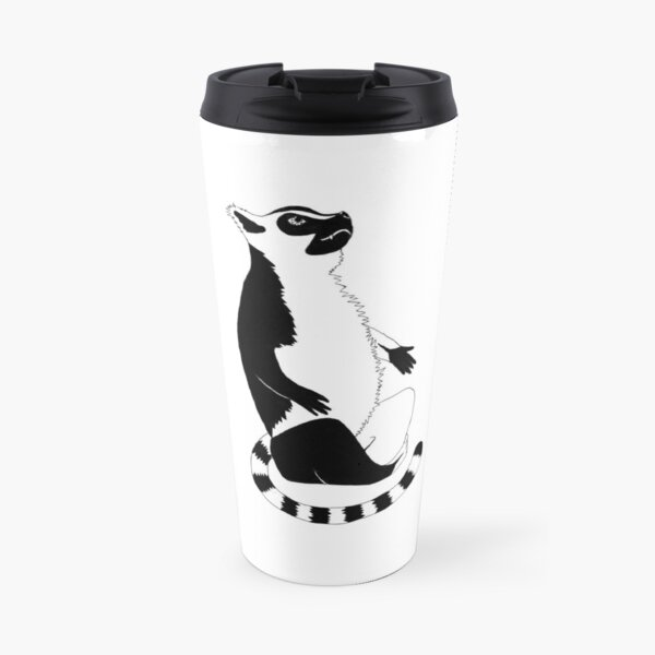 Ring-tailed Lemur (ink illustrations of weird animals that are real) Travel Mug