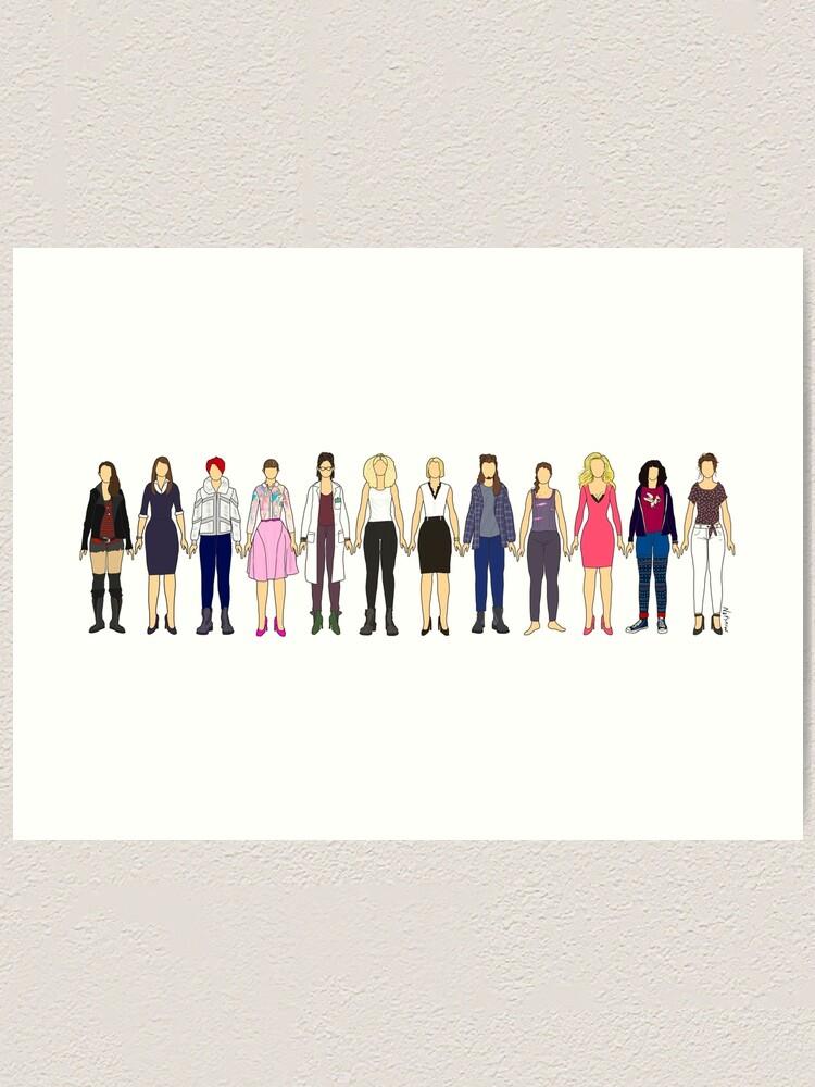 Alternate view of Sestras Sisters Unite Orphan Black Long Version Art Print