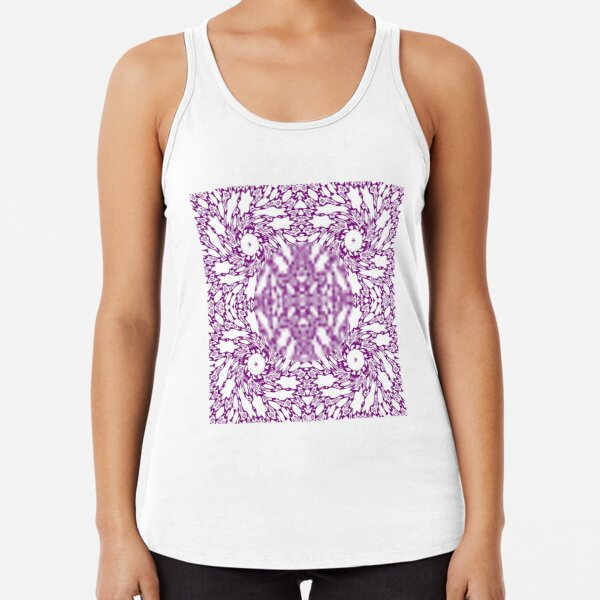 OpArt, Visual Illusion, VisualArt, OpticalArt, #OpticalIllusion, #OpticalIllusionArt, #OpticalArtIllusion, #PsyhodelicArt Racerback Tank Top