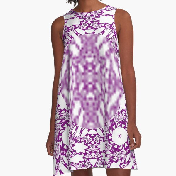 OpArt, Visual Illusion, VisualArt, OpticalArt, #OpticalIllusion, #OpticalIllusionArt, #OpticalArtIllusion, #PsyhodelicArt A-Line Dress