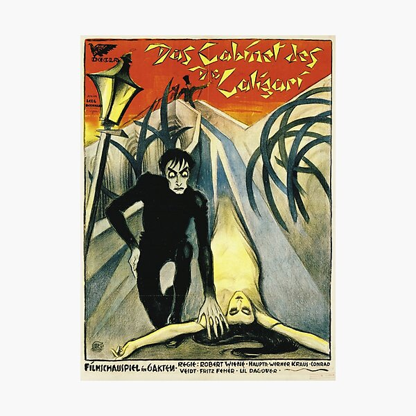 The Cabinet of Dr. Caligari - Silent Movie poster Photographic Print
