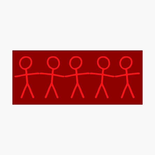#WalkInRed People Chain Photographic Print