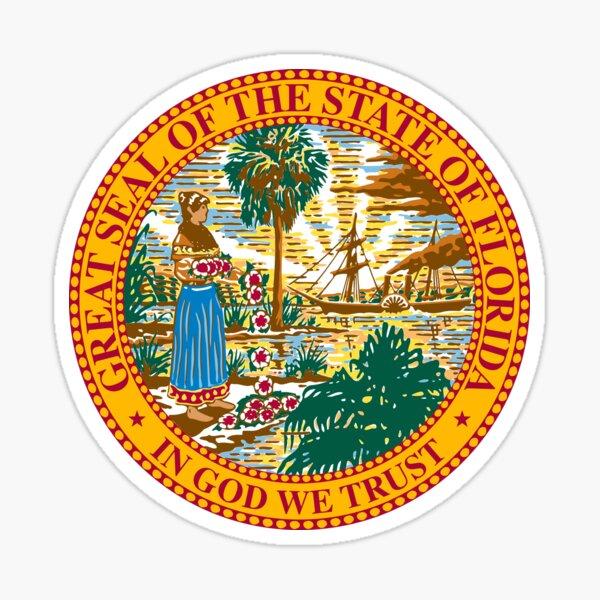 Florida FL State Seal Sticker