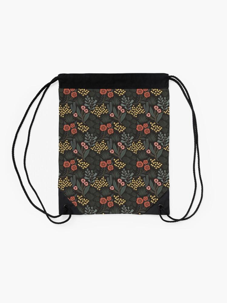 Alternate view of Night Garden Drawstring Bag