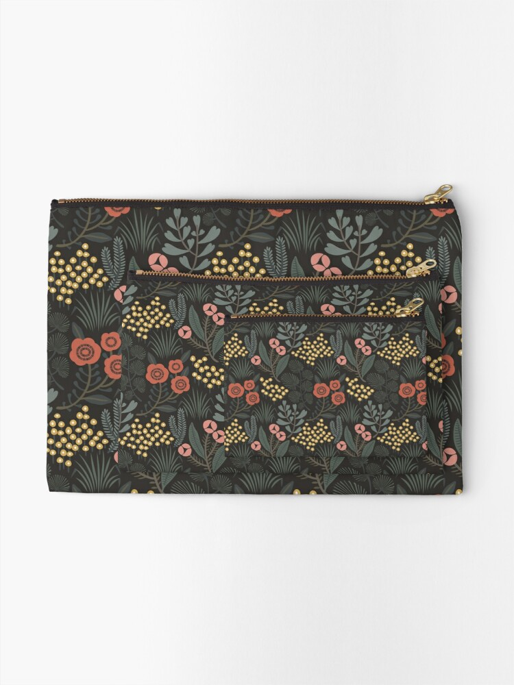 Alternate view of Night Garden Zipper Pouch