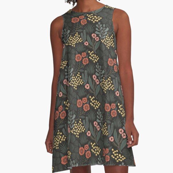 Night Garden A-Line Dress