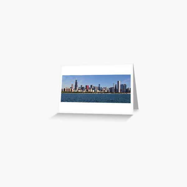 Chicago skyline in morning light Greeting Card