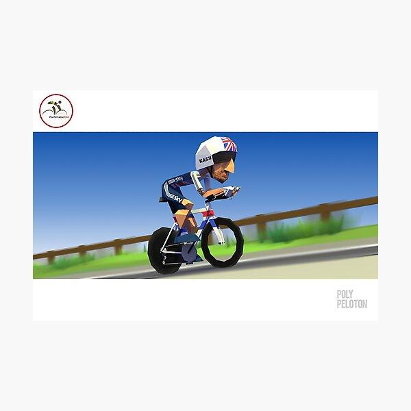 #PolyPeloton : Bradley Wiggins wins gold Photographic Print