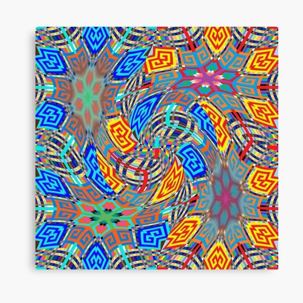 OpArt, Visual Illusion, VisualArt, OpticalArt, #OpticalIllusion, #OpticalIllusionArt, #OpticalArtIllusion, #PsyhodelicArt Canvas Print