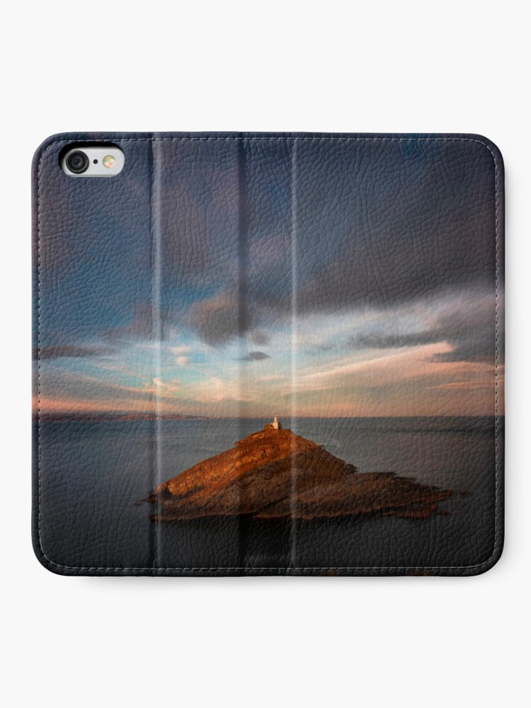 Alternate view of Sunlight on Mumbles Lighthouse iPhone Wallet