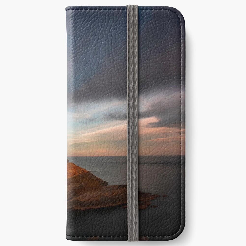 Sunlight on Mumbles Lighthouse iPhone Wallet