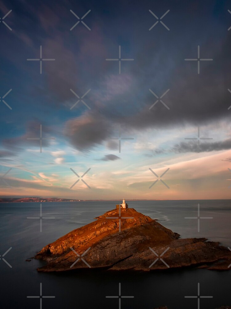 Sunlight on Mumbles Lighthouse by leightoncollins
