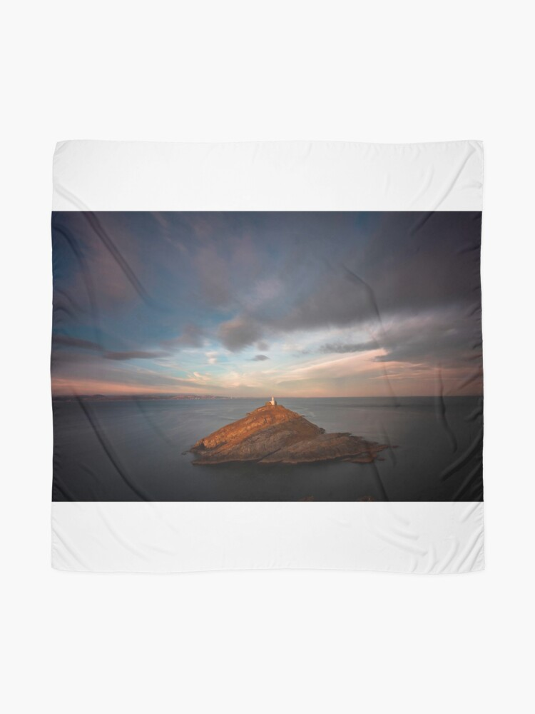 Alternate view of Sunlight on Mumbles Lighthouse Scarf