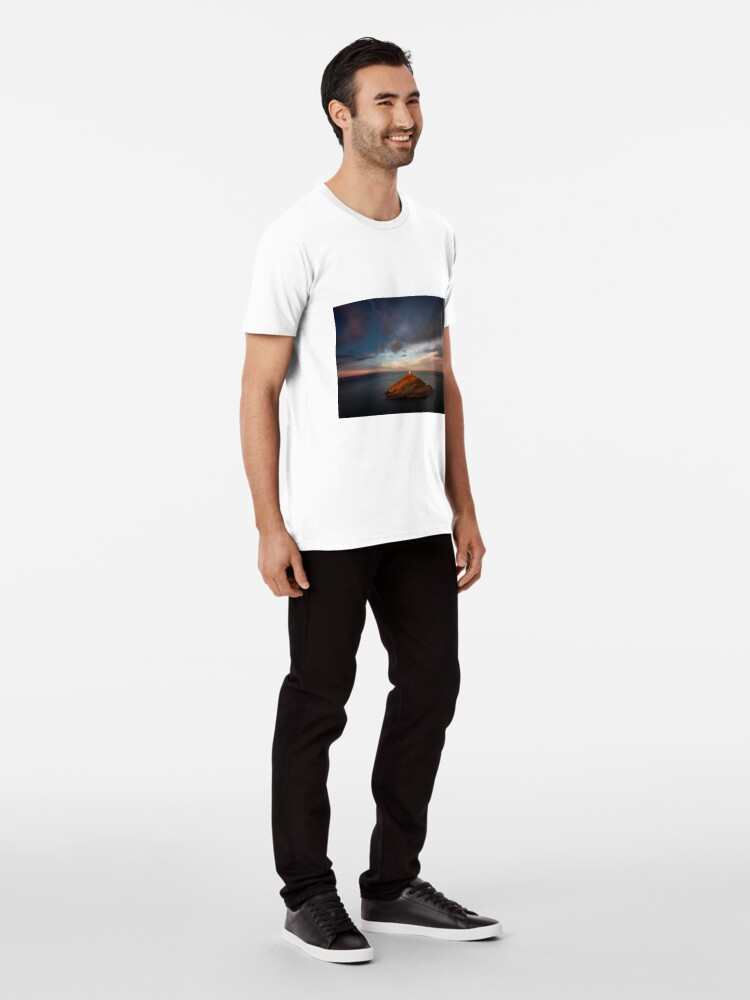 Alternate view of Sunlight on Mumbles Lighthouse Premium T-Shirt