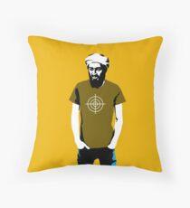 Hipster Bin Laden Throw Pillow