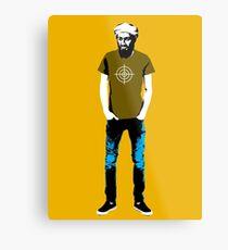 Hipster Bin Laden Metal Print