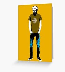 Hipster Bin Laden Greeting Card