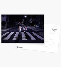 Monogatari – Mayoi and Shinobu crosswalk Postcards