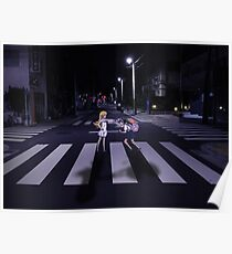 Monogatari – Mayoi and Shinobu crosswalk Poster