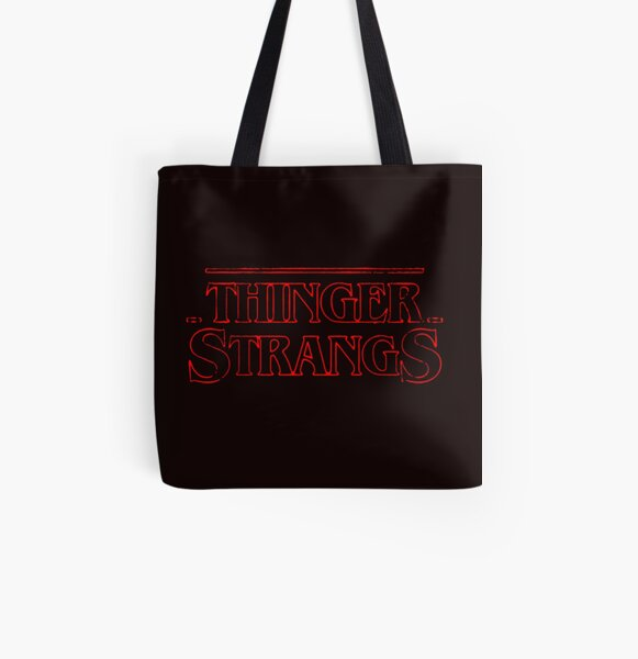 Small Word Art Tote Bag Tusks