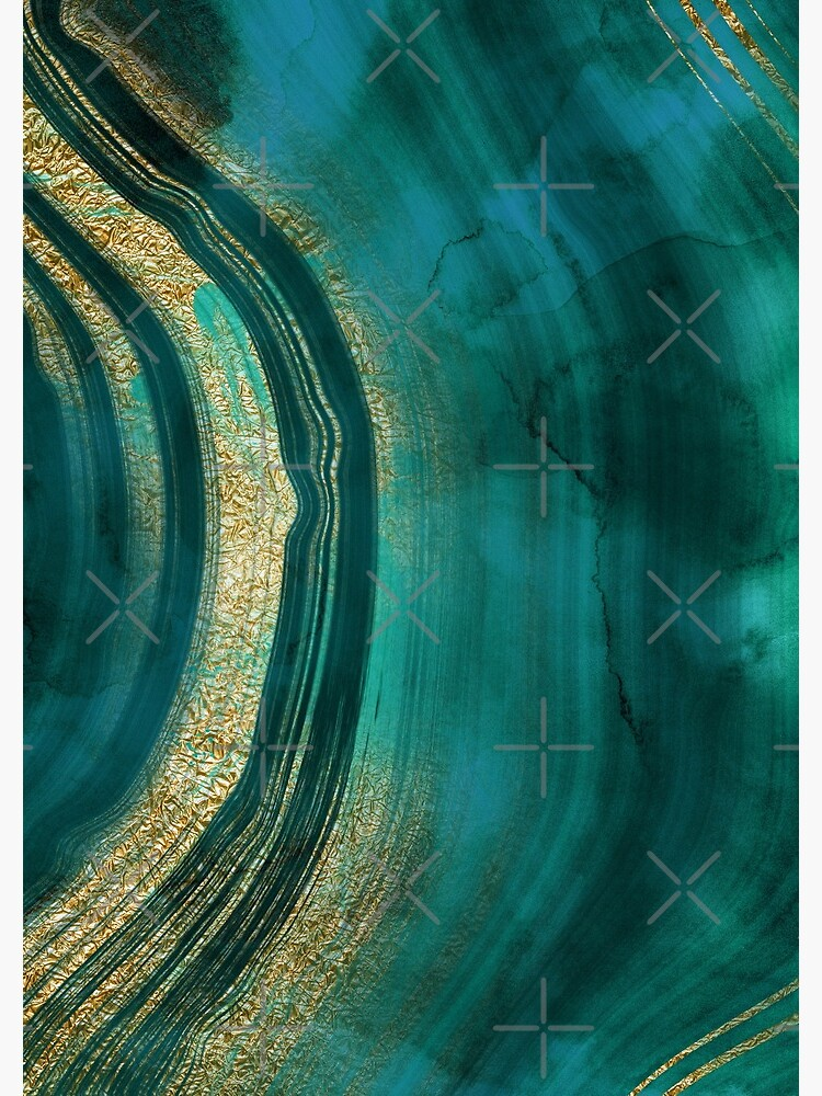 Gold Veined Green Luxury Marble  by MysticMarble