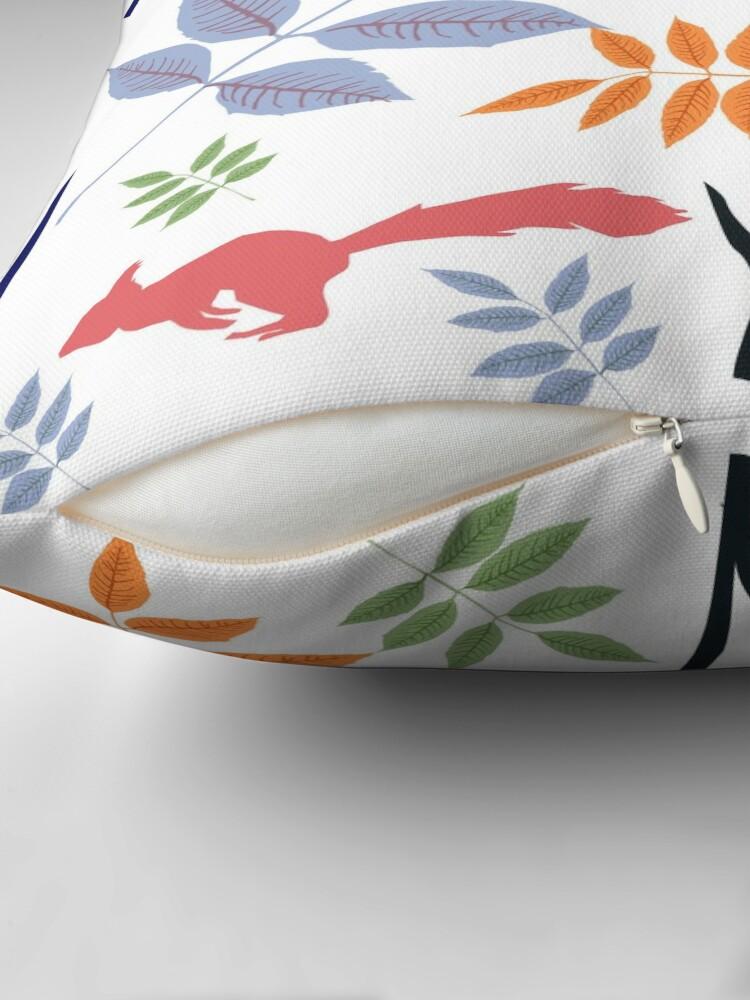 Alternate view of Yggdrasil folk art Throw Pillow