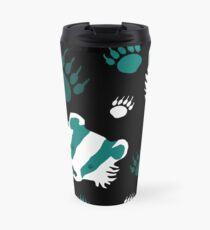 Badger prints in teal Travel Mug