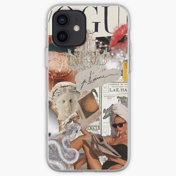 Paris/Rich Aesthetic Collage iPhone Soft Case