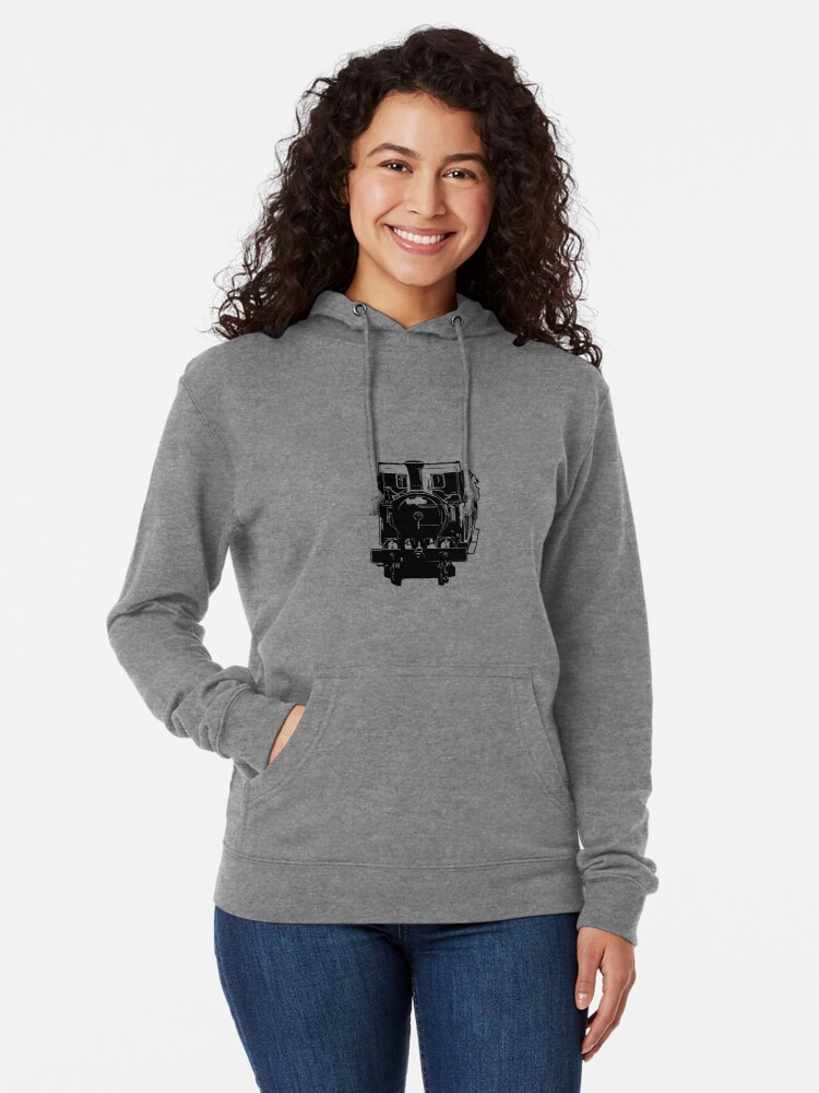 Alternate view of Isle of Man Steam Train and Carriages Lightweight Hoodie