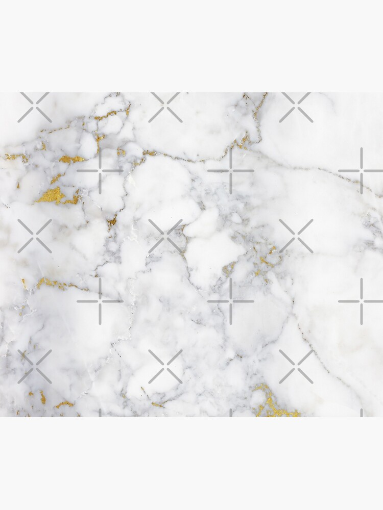 Gold Veins on Gray and White Marble I by MysticMarble