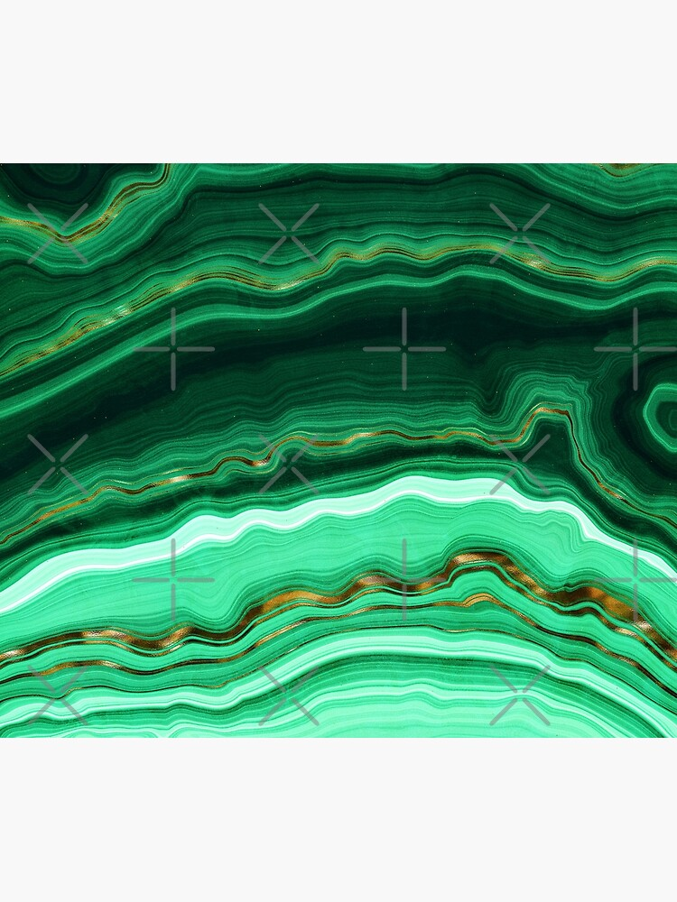 Green and Gold and Mint veined Malachite Gemstone by MysticMarble
