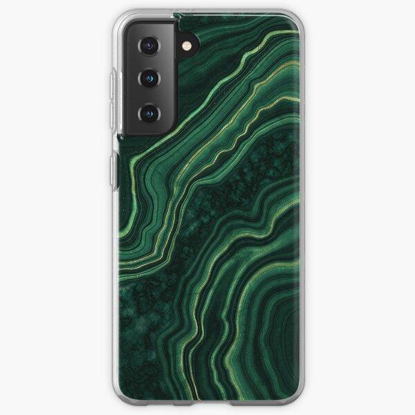 Malachite Green Marble with Gold Veins Samsung Galaxy Soft Case