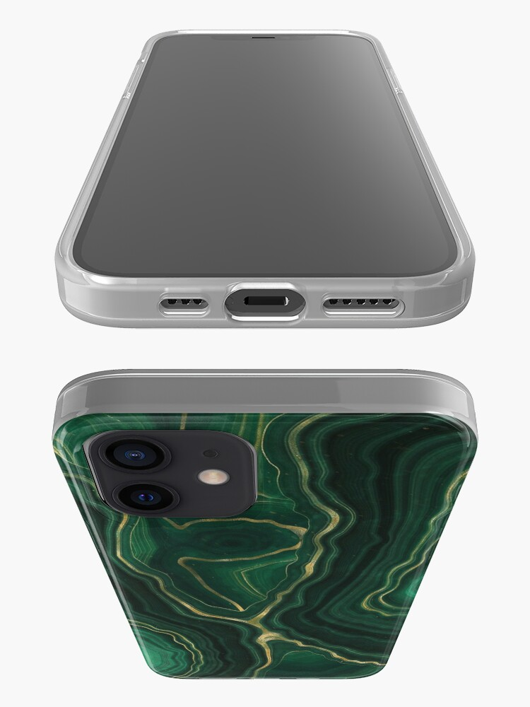 Alternate view of Malachite Green Marble with Gold Veins IV iPhone Case & Cover