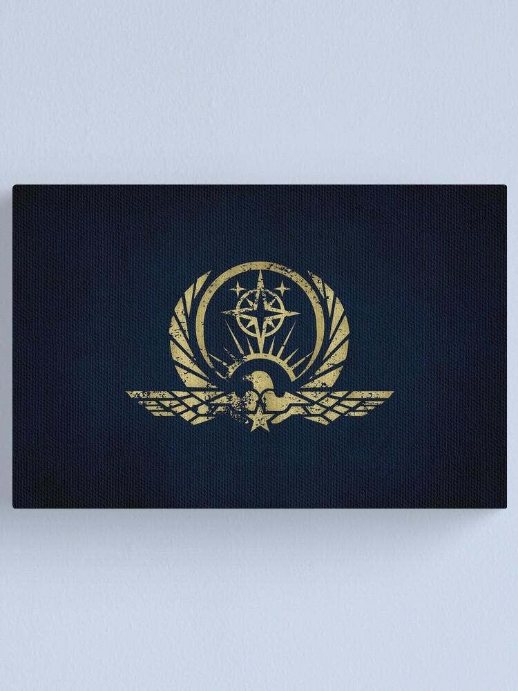 Alternate view of Interstellar Protectorate Logo · Distressed Canvas Print