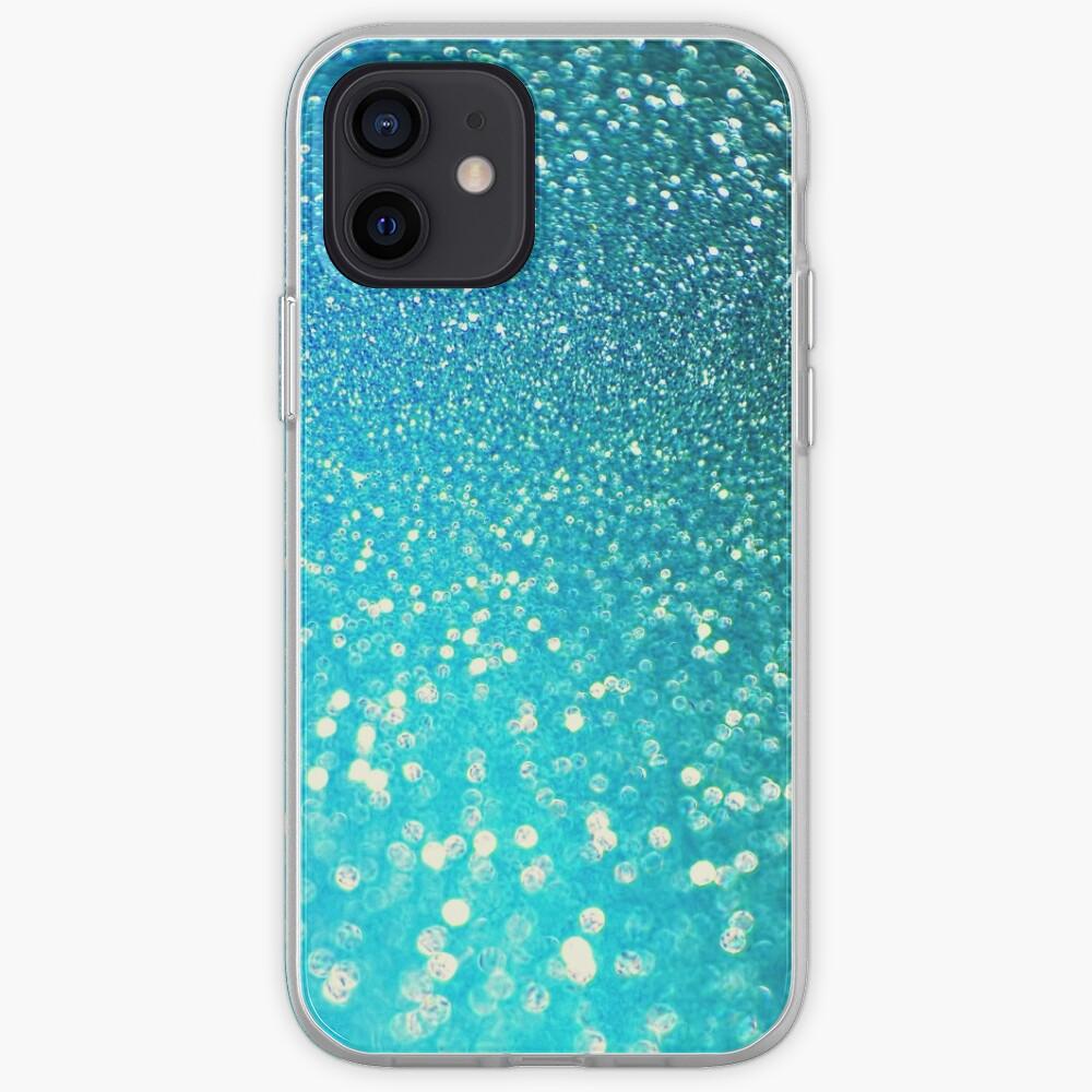 Mermaid Ocean Blue Glitter iPhone Case & Cover