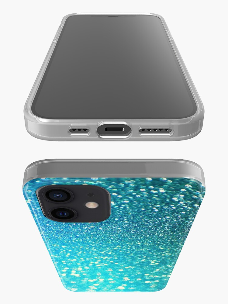 Alternate view of Mermaid Ocean Blue Glitter iPhone Case & Cover