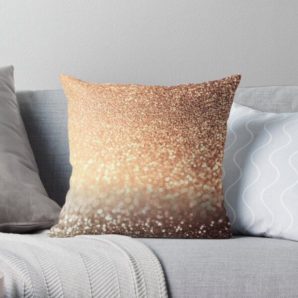 Late Afternoon Coffee Break Glitter Throw Pillow