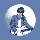 Johnny Marr portrait by Nathan Brenville