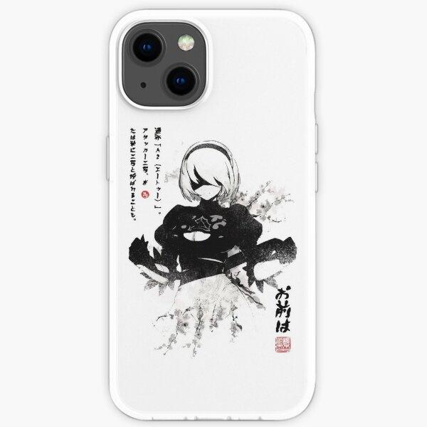 NieR:Automata 2B Japan Ink ニーア_オートマタ iPhone Soft Case