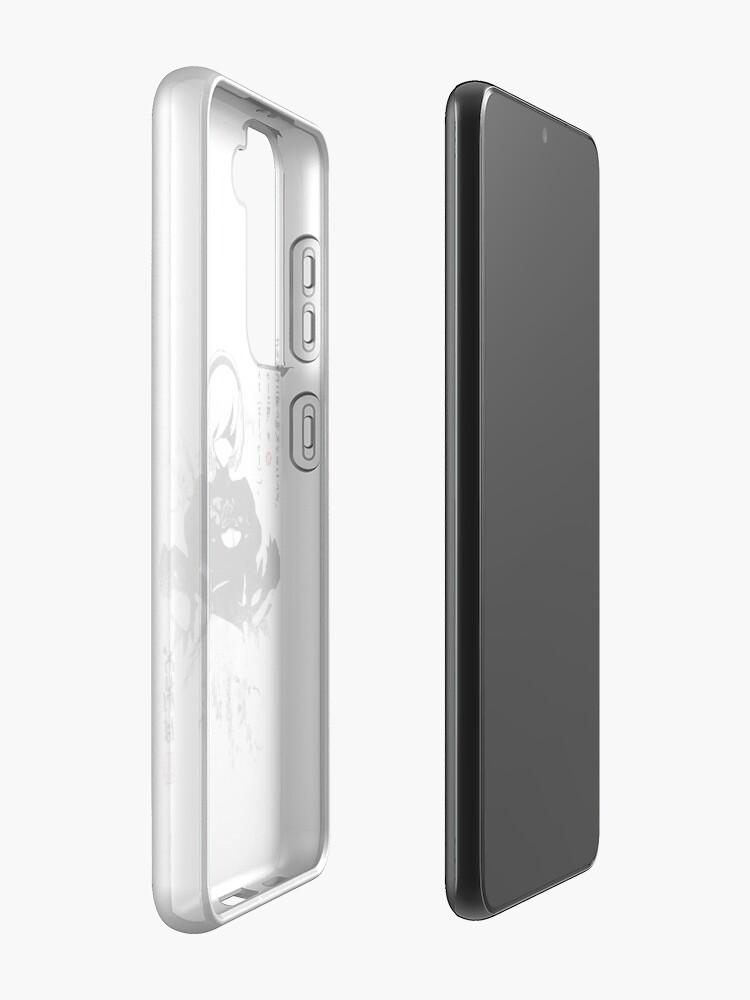 Alternate view of NieR:Automata 2B Japan Ink ニーア_オートマタ Case & Skin for Samsung Galaxy